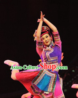 Chinese Xinjiang People Folk Dance Ethnic Dresses Traditional Wear Clothing Cultural Dancing Costume Complete Sets for Women