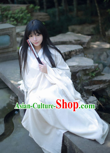 Ancient Chinese Style Inside Clothing Pajamas Complete Set for Men and Women
