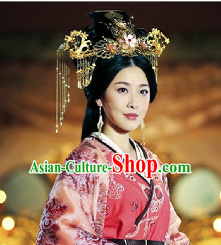 China Ancient Dynasty Imperial Royal Quene Crown Empress Hairpins Hair Accessories Hairstyle Chinese Oriental Hairstyles Headpieces Hat