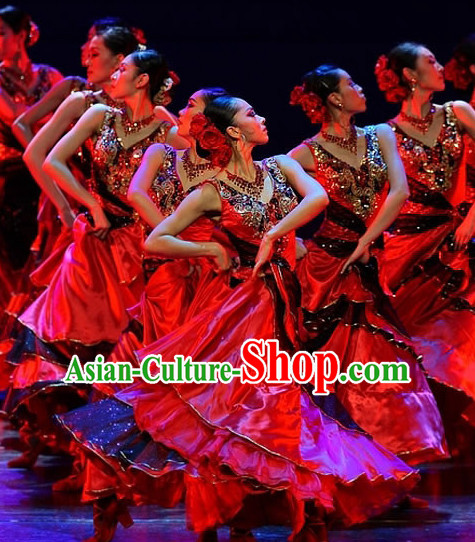 Brazil Folk Dance Dress Clothing Dresses Costume Ethnic Dancing Cultural Dances Costumes for Women Girls