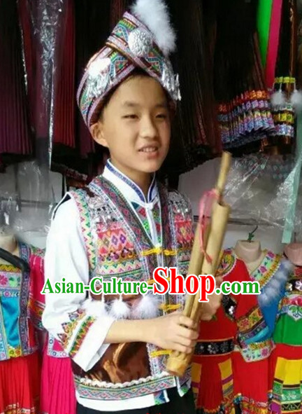 Chinese Folk Dance Dress Clothing Dresses Costume Ethnic Dancing Cultural Dances Costumes for Boys