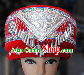Chinese Miao Folk Ethnic Hat for Women