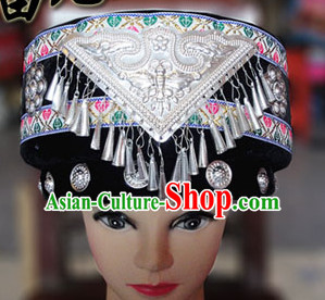 Chinese Traditional Miao Minority Hmong Folk Ethnic Hat for Women