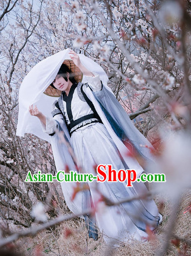Chinese Traditional Warrior Costumes Complete Set