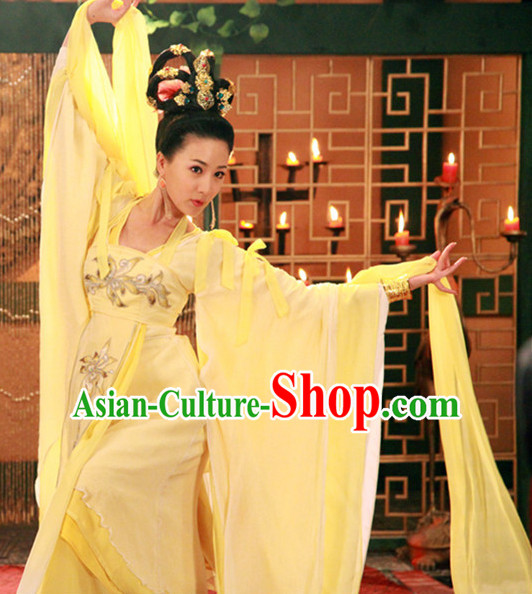 Chinese Traditional Dancer Costumes Complete Set