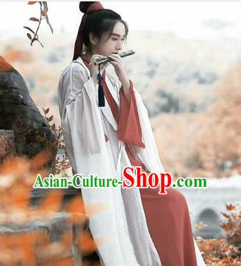 Chinese Traditional Han Fu Costumes Complete Set