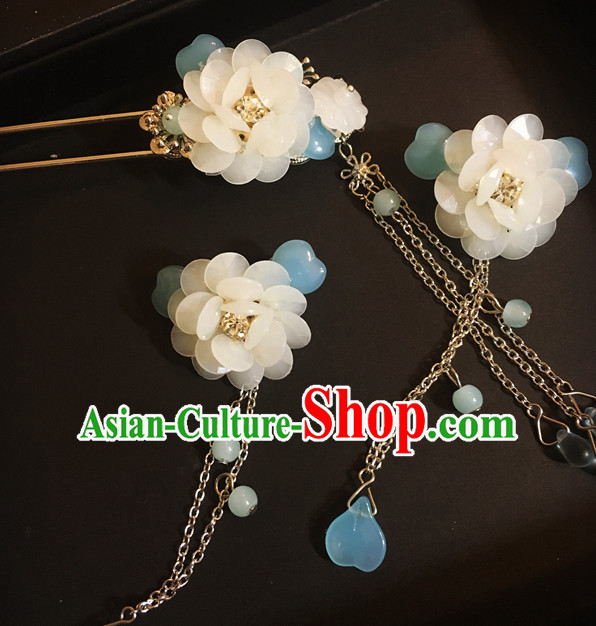 Chinese Traditional Fairy Headpieces Hair Jewelry Set