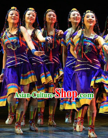 Traditional Ethnic Mongolian Dancing Costumes for Girls
