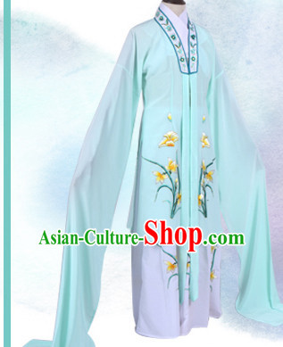 Chinese Opera Costumes Huangmei Opera Stage Performance Costume Chinese Traditional Hua Dan Costume Drama Costumes and Hat Complete Set for Women