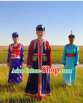 Traditional Chinese Ethnic National Costumes Complete Set for Women