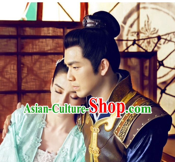 Chinese Traditional Ancient Black Wigs for Men
