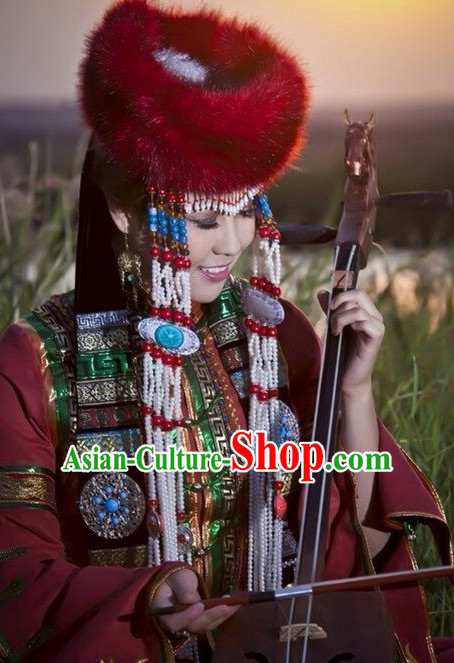 Chinese Traditional Mongolian Hat for Women