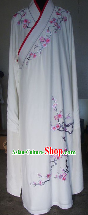Traditional Chinese Opera Cantonese Opera Guangdong Opera Embroidered Plum Blossom Men Costumes Long Robe