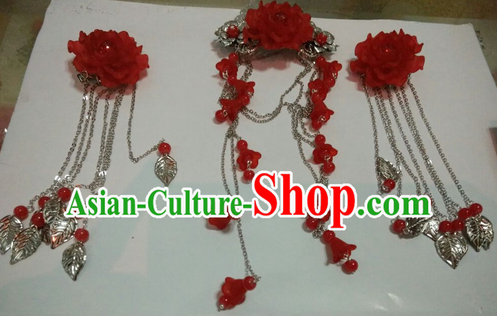 Traditional Chinese Princess Flower Hair Accessories