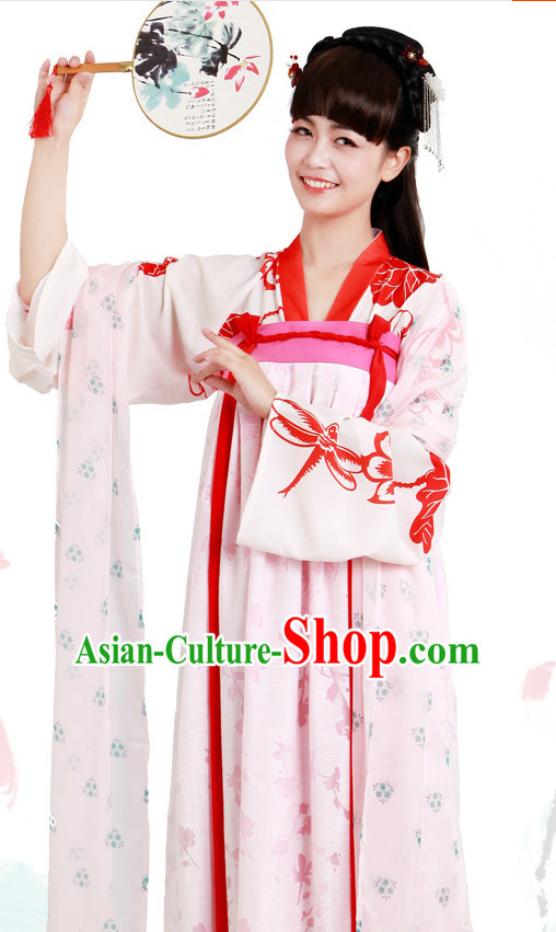 Ancient Chinese Tang Dynasty Peacock Clothing Chinese National Costumes Ancient Chinese Costume Traditional Chinese Clothes Complete Set for Women Girls