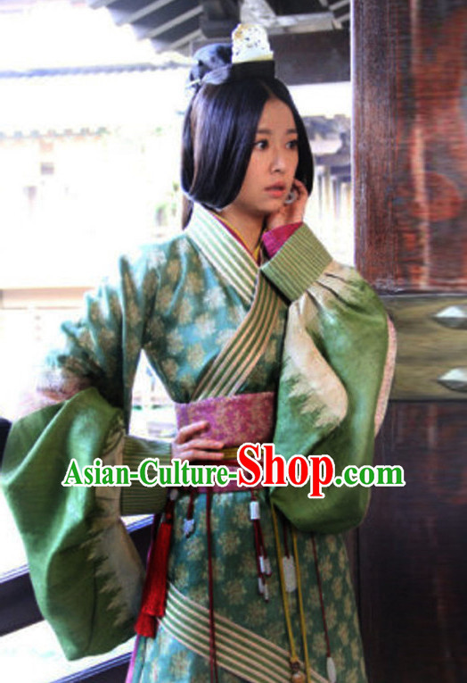 Long Tail Top Chinese Traditional Princess Clothing Theater and Reenactment Costumes Red Chamber Chinese Clothes and Headpieces Complete Set for Women