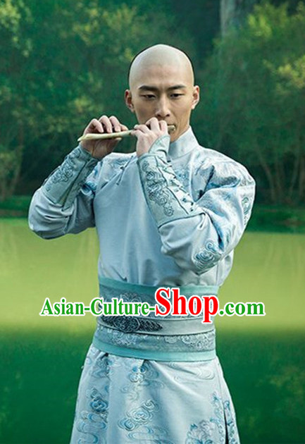 Ancient Chinese Prince Men's Clothing _ Apparel Chinese Traditional Dress Theater and Reenactment Costumes Complete Set for Men