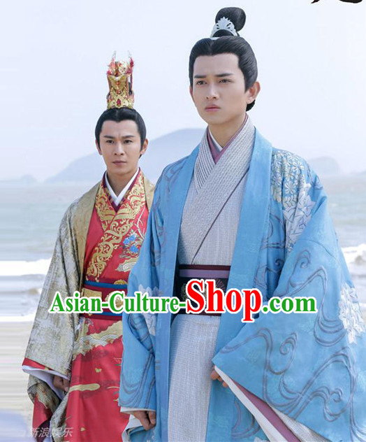 Chinese Ancient Prime Minister Men's Clothing _ Apparel Chinese Traditional Dress Theater and Reenactment Costumes and Headwear Complete Set