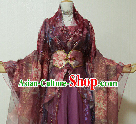 Chinese Women Traditional Dress Cheongsam Ancient Chinese Clothing Cultural Robes Complete Set