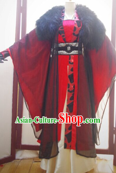 Chinese Ancient Han Fu Emperor Clothing Robes Tunics Accessories Traditional China Clothes Men Adults Kids