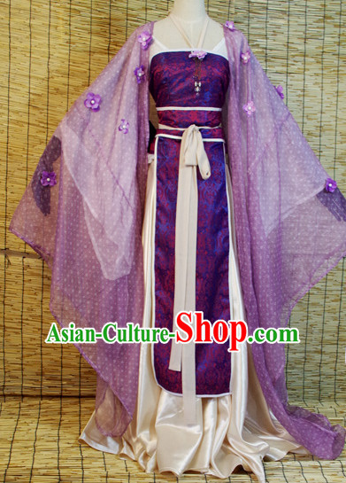 Chinese Ancient Han Fu Princess Clothing Robes Tunics Accessories Traditional China Clothes Adults Kids
