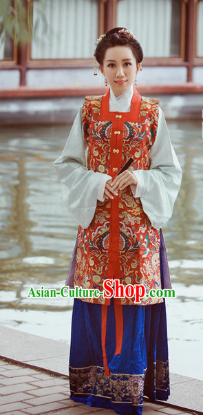 Chinese Hanfu Dress China Hanfu Costume Histroical Dresses Traditional Hanfu Wedding Ceremony Chinese Culture Clothing Complete Set