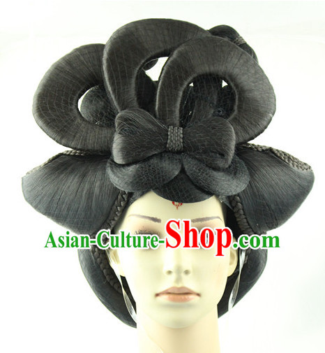 Traditional Chinese Style Black Wigs for Women