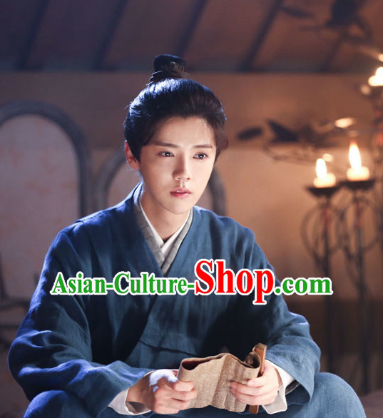 Ancient Chinese Black Wigs for Men