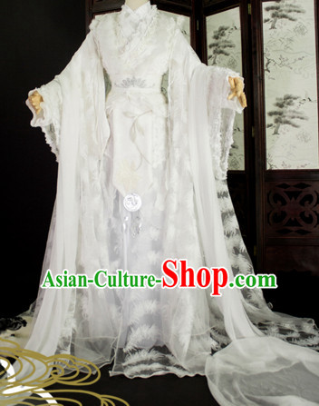 Top Chinese Ancient Princess Guzhuang Hanfu Women's Clothing _ Apparel Chinese Traditional Dress Theater and Reenactment Costumes Complete Set