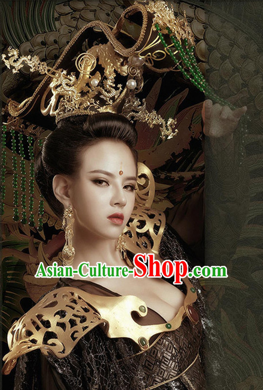 Ancient Chinese Empress Hair Hat Hair Accessories Headpiece Headdress Phoenix Crown Hair Decoration