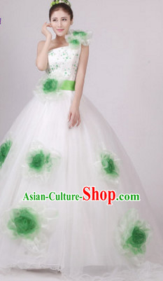 Chinese Flower Dance Costume Dance Costumes Fan dance Umbrella Ribbon Fans Water Sleeve Dancer Dancing Costumes Complete Set