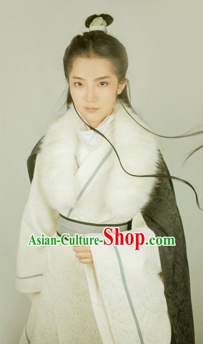 Ancient Wise Person Hanfu Hanzhuang Han Fu Han Clothing Traditional Chinese Dress National Costume Complete Set for Men or Boys