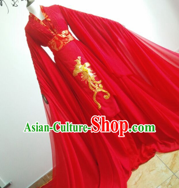 Ancient Chinese Empress Princess Imperial Wedding Dresses Hanzhuang Han Fu Han Clothing Traditional Chinese Dress Hanfu National Costume Complete Set for Women
