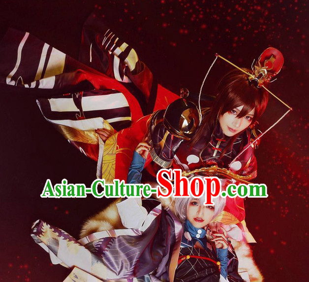 Ancient Chinese Emperor Clothing Halloween Cosplay Asian Han Fu National Costumes Complete Set for Men