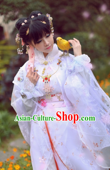 Top Chinese Ancient Princess SuitTheater and Reenactment Costumes Cape Mantle Complete Set for Women Girls
