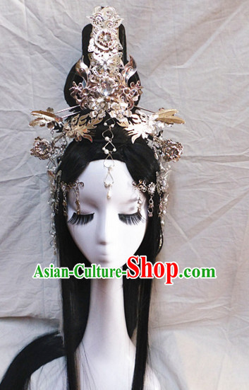 Chinese Ancient Traditional Hair Headwear Crowns Hats Headpiece Hair Accessories Jewelry