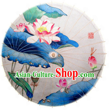 Asian Dance Umbrella China Handmade Lotus Umbrellas Stage Performance Umbrella Dance Props