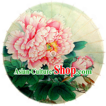 Asian Dance Umbrella China Handmade Classical Peony Umbrellas Stage Performance Umbrella Dance Props