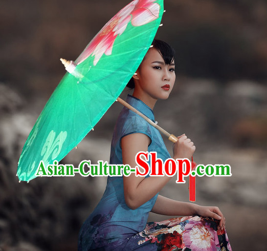 Asian Dance Umbrella China Handmade Traditional Painting Umbrellas Stage Performance Umbrella Dance Props