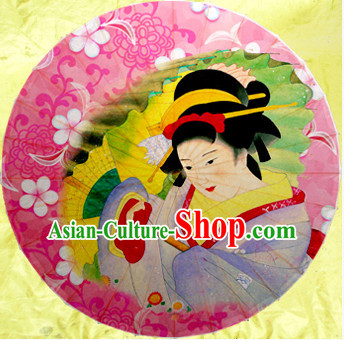 Traditional Rainproof Handmade Chinese Classic Oil Paper Geisha Umbrellas China Dance Umbrella Stage Performance Umbrella Dancing Props