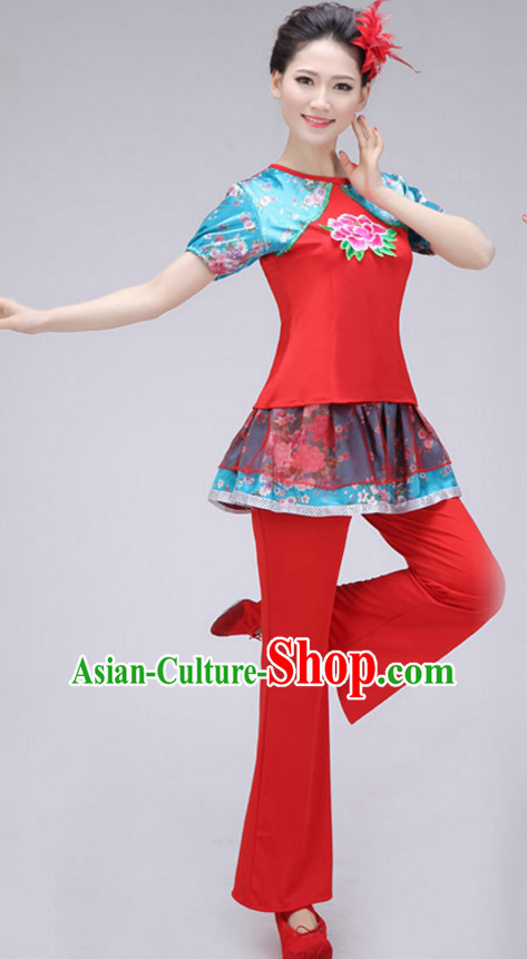 Chinese Fan Dance Costume Dance Costumes for Women