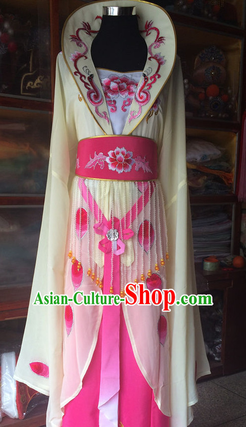 Long Sleeves China Beijing Opera Women Costume Embroidered Robe Stage Costumes Complete Set