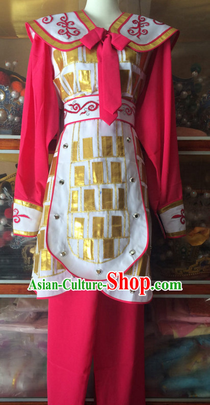 China Beijing Opera Female Heroine Embroidered Robe Stage Costumes Complete Set