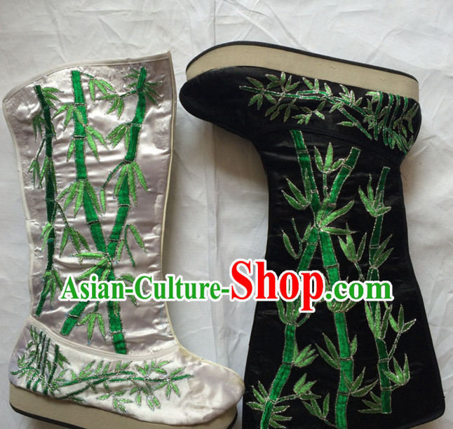 China Beijing Opera Embroidered Bamboo Boots