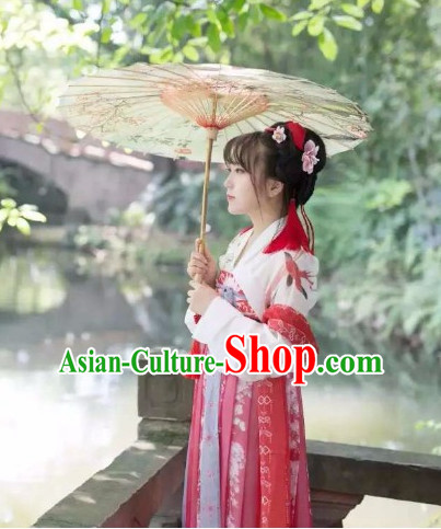 Chinese Ancient Tang Dynasty Ruqun Clothing Complete Set for Women