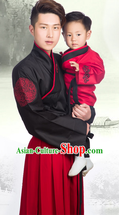Chinese Men Hanbok Kimono Stage Opera Costume Dresses Costume Ancient Cosplay Complete Set