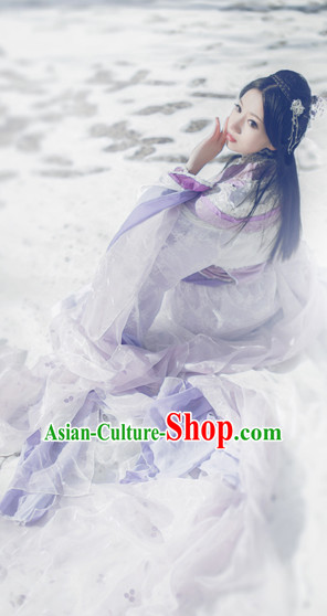 Chinese Traditional Princess Royal Stage Hanfu Hanbok Kimono Costume Dresses Costume Ancient Garment Complete Set