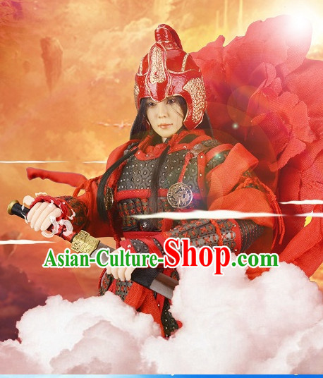 red hanfu dress gown Chinese costumes armor sleeves cloak ancient costume armor sash blouses cheong sam men clothing trousers
