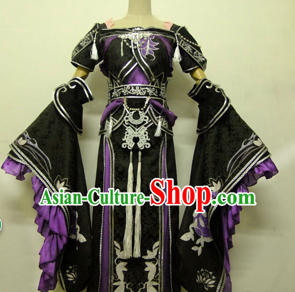 Special Ancient Chinese Heroine Armor Costumes Body Costume Dresses Complete Set