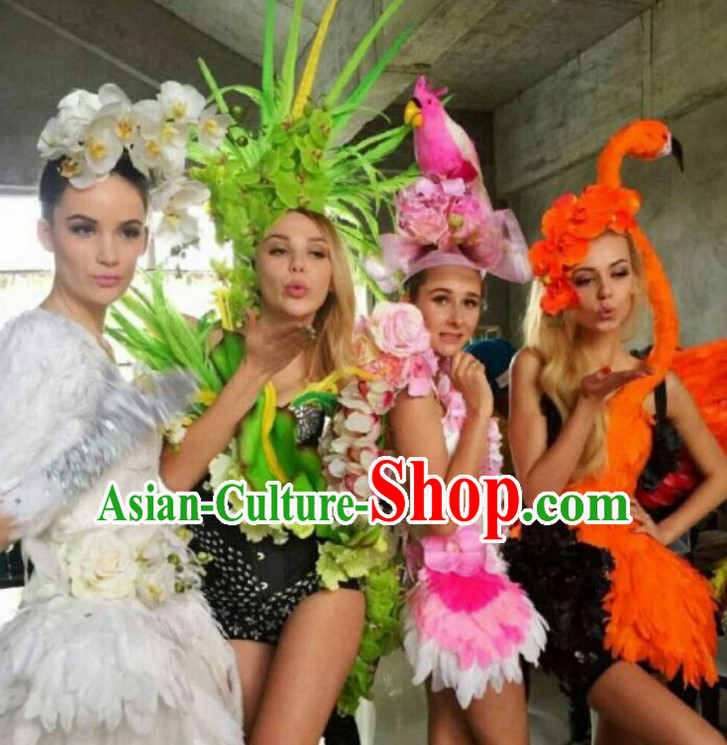 Parade Quality Forest Dance Costumes Popular Ostrich Feathers Fancy Bird Costume Stage Costumes Angel Wings Costume Complete Set